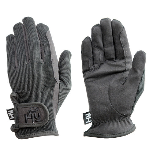 Hy5 Children's Every Day Riding Gloves in Black in Child Small