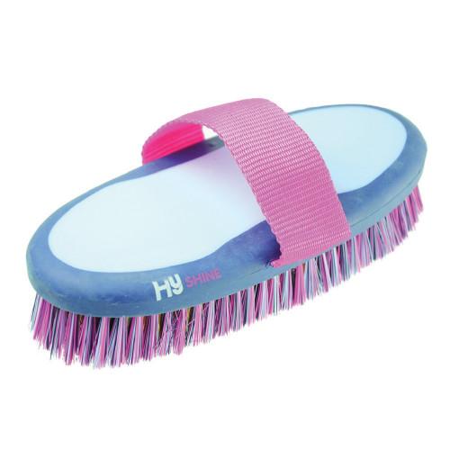 HySHINE Pro Groom Body Brush in Navy/Light Blue