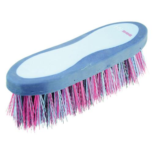 HySHINE Pro Groom Dandy Brush in Navy/Light Blue