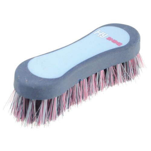 HySHINE Pro Groom Face Brush in Navy/Light Blue