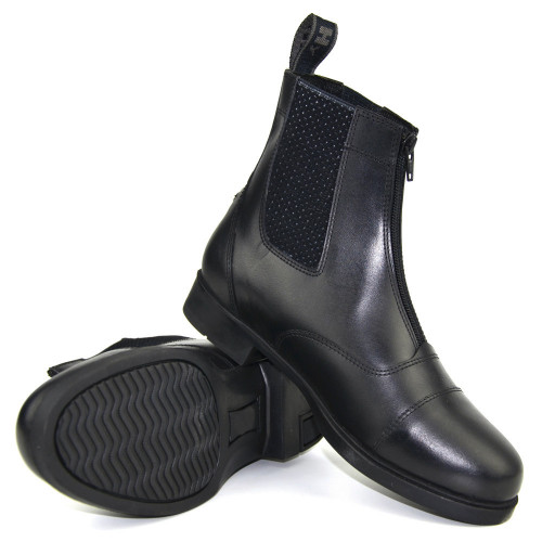 HyLAND Canterbury Zip Jodhpur Boot in Black Child 1