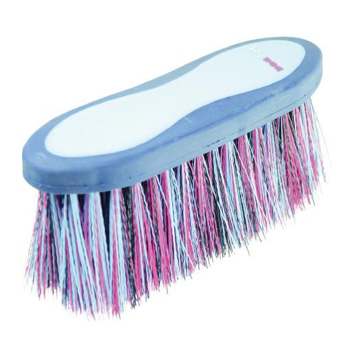 HySHINE Pro Groom Long Bristle Dandy Brush in Navy/Light Blue