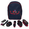 Tractors Rock Complete Grooming Kit Rucksack by Hy Equestrian - Navy/Red - One Size