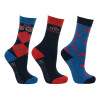 Hy Equestrian Tractors Rock Socks (Pack of 3) - Navy/Red - Childs 8-12