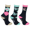 I Love My Pony Collection Socks by Little Rider (Pack of 3) - Navy/Pink/Teal/Cream - Childs 8-12