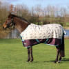 """StormX Original 100 Turnout Rug - Thelwell Collection Country - Beige/Aubergine/Aquatic - 5'9"""""""