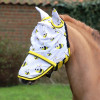 Hy Equestrian Bee Fly Mask with Ears and Detachable Nose - Yellow/White - Small Pony