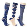 Hy Equestrian Slow Sloth Socks (Pack of 3)