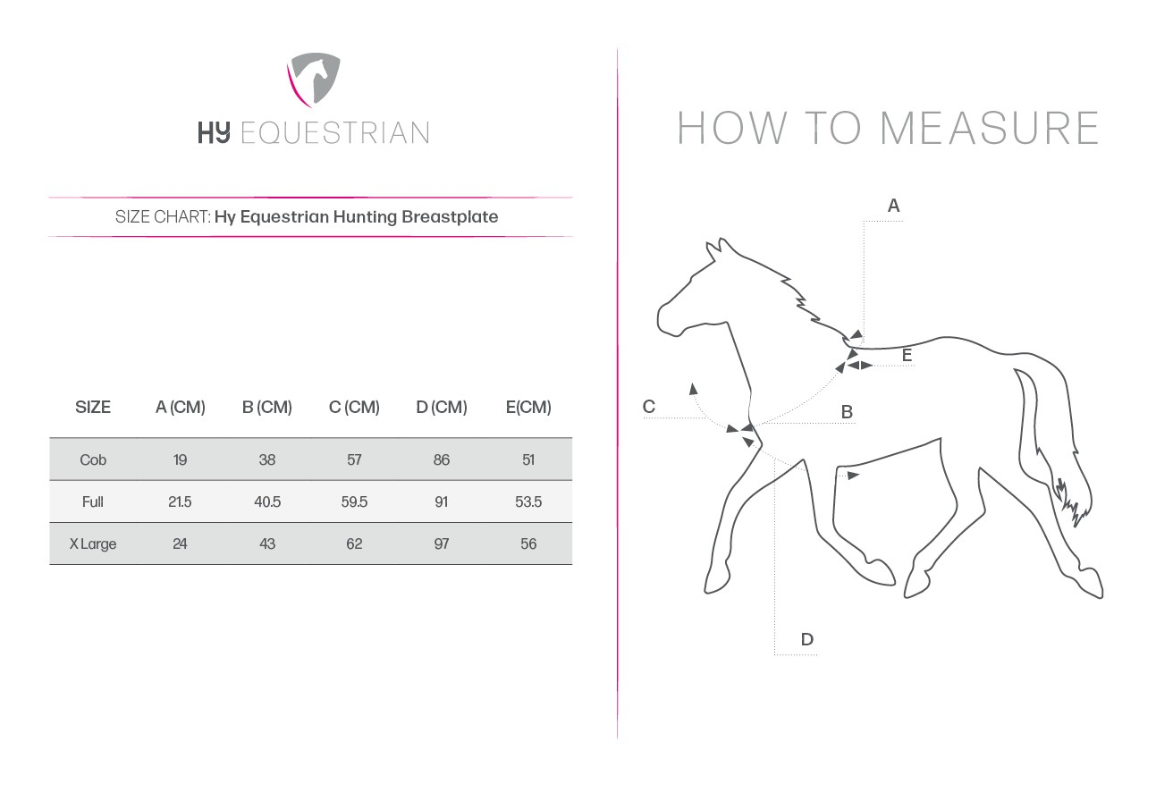 HORZE ADJUSTABLE HORSE HUNTING BREASTPLATE MARTINGALE BLUE FULL SIZE BLACK U-BL